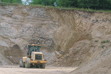 View of active gravel pit