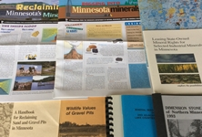 Lands and Mineral publications printed out