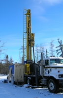 Drill Rig to Obtain Bedrock Core Samples
