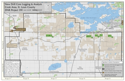 project location map for Cook Area Drill Core Re-Logging and Sampling, St. Louis County