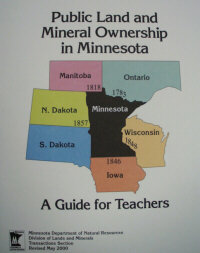 Thumbnail image of the teacher's guide to public land and mineral ownership in Minnesota publication