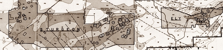 Image of historic mineral exploration map