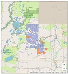 screen shot of web map