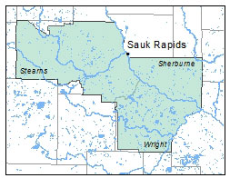 Sauk Rapids map
