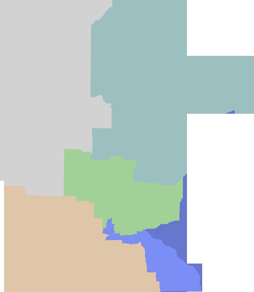 Deer regions map