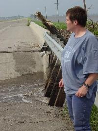 Broken bridge in Borup