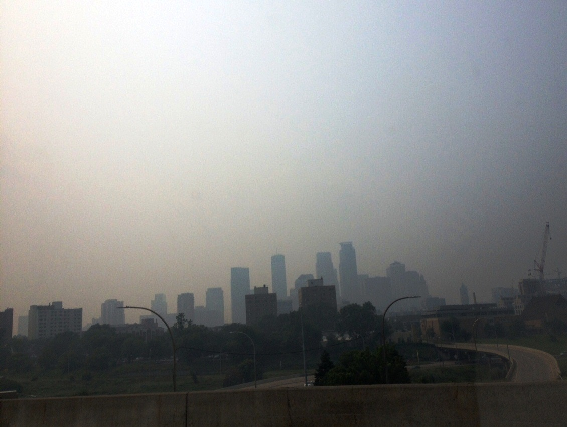 Smoky Skies over Minneapolis