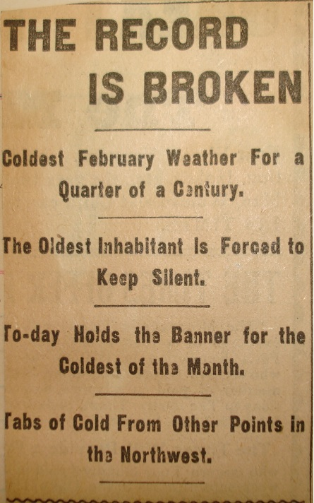 Minneapolis Times Headline from Feb 9, 1899