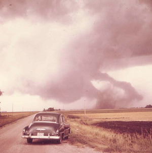 photo of tornado - Elbow Lake, MN - September 5, 1969