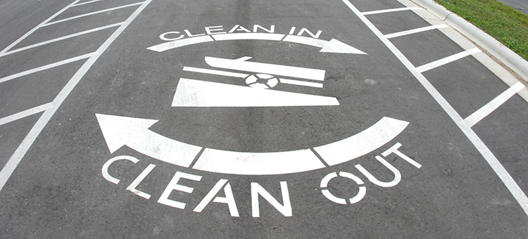 clean in, clean out logo