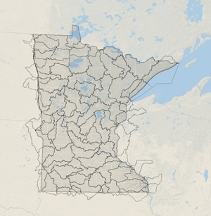 DNR Major Watershed Map