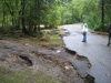 Campground road damage