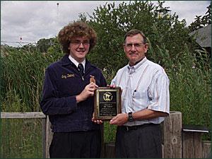 FFA Award Winner Gary Delaney with DNR Commissioner Merriam