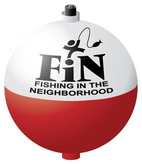Fishing in the Neighborhood Program Bobber Logo.
