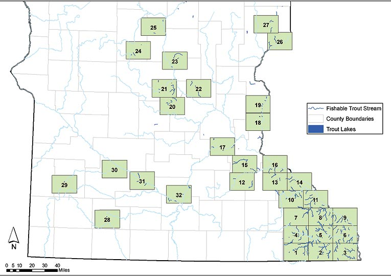 Southeast MN Trout Stream Index Map