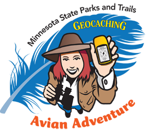Minnesota State Parks Geocaching Avian Adventure logo