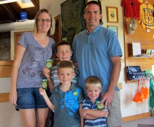 Rick, Susie, Kyle, Aidan, and Parker Stoltz