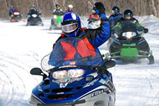 Snowmobilers on MN trails.
