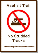 studded tracks signs