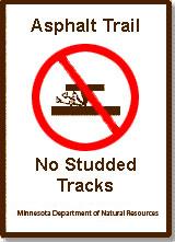 studded tracks signs