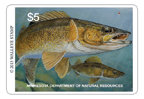 Walleye stamp $5