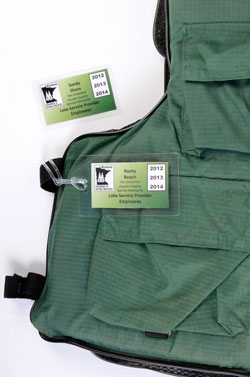 vest with tags