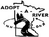 Adopt a River Black and White Logo