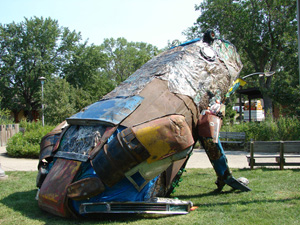 Adopt-a-River state fair sculpture 2007