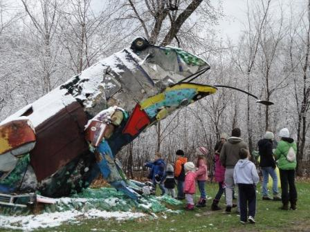 Adopt-a-River state fair sculpture 2007