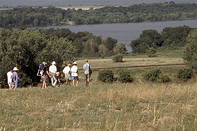 Photo of visitors on a guided hike