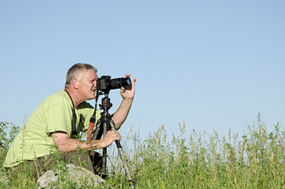 Photo of photogarpher at prairie photography workshop