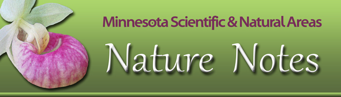 Minnesota Scientific & Natural Areas Nature Notes banner
