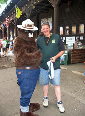 Smokey Bear and friend