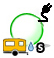 Icon for drive-in electric, water, sewer campsite.