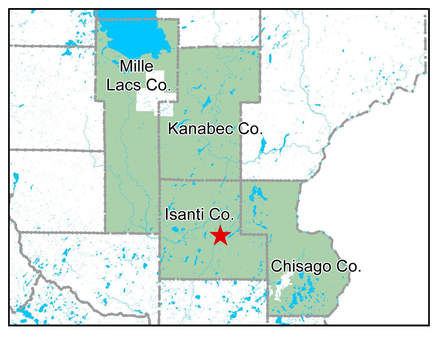 Map of Cambridge work area
