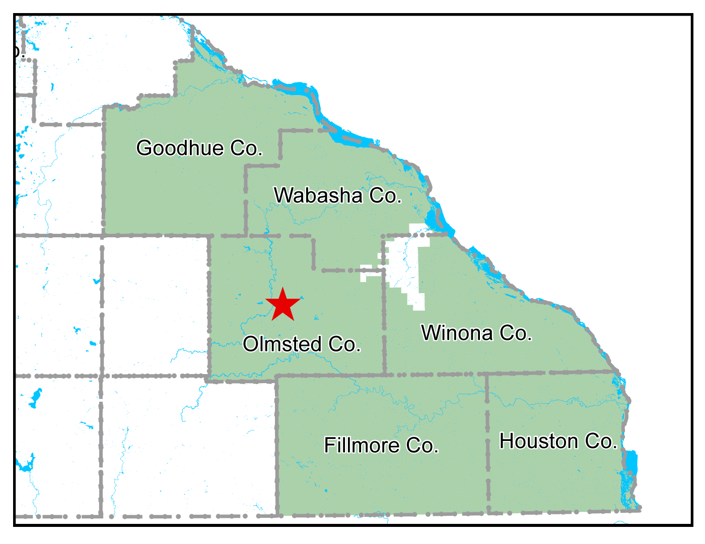Map of Rochester work area