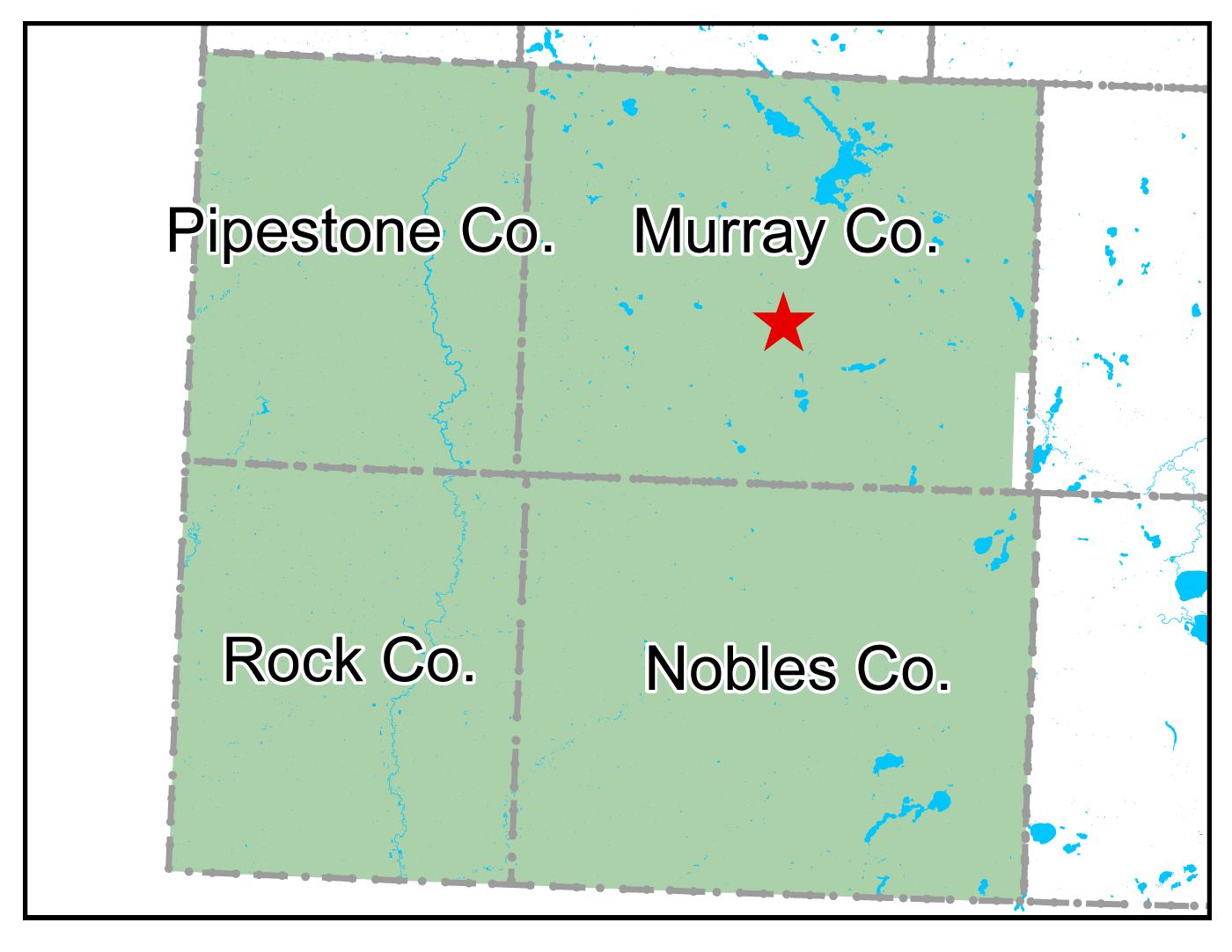 Map of Slayton work area