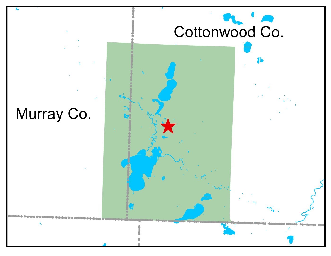 Map of Talcot Lake WMA work area