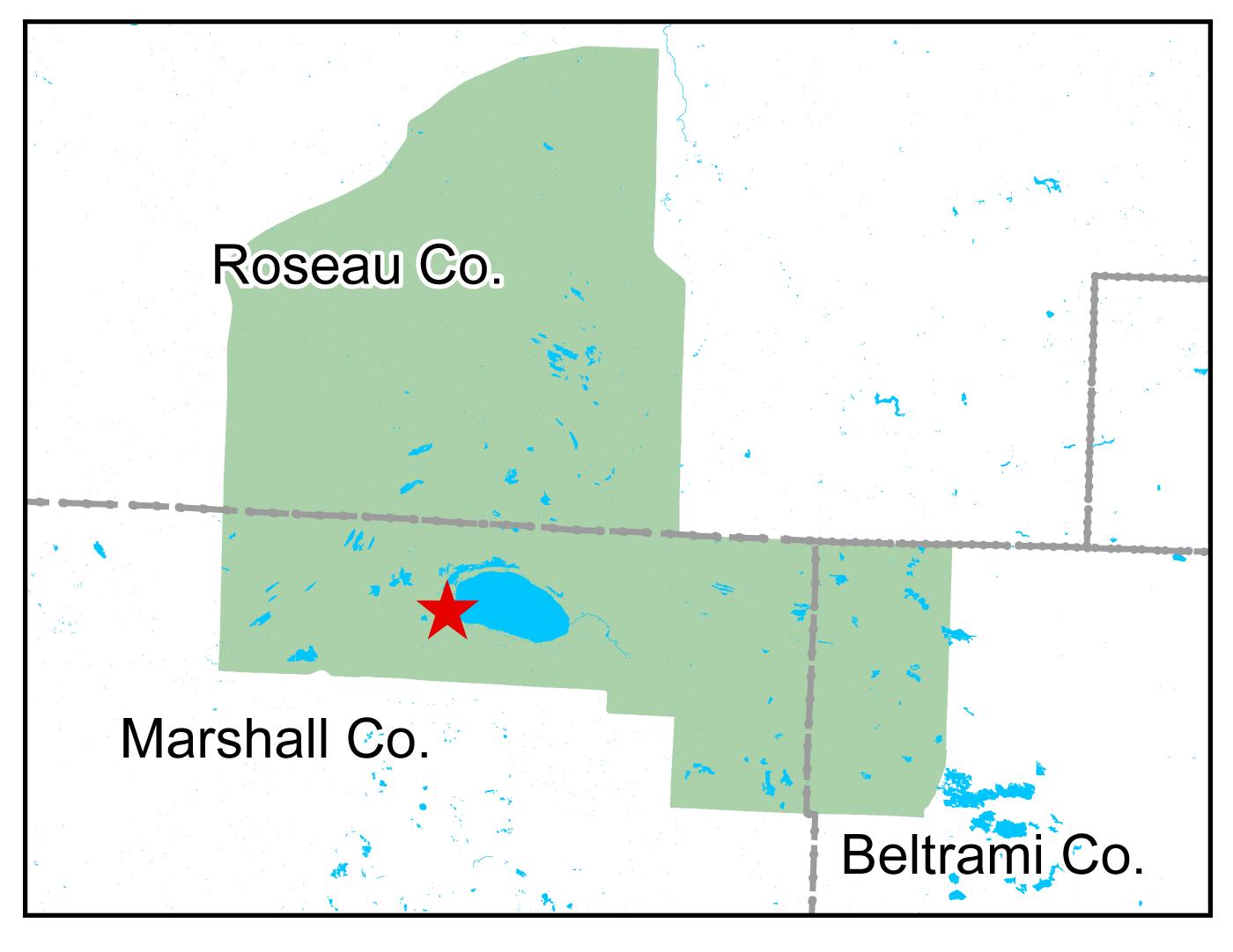 Map of Thief Lake WMA work area