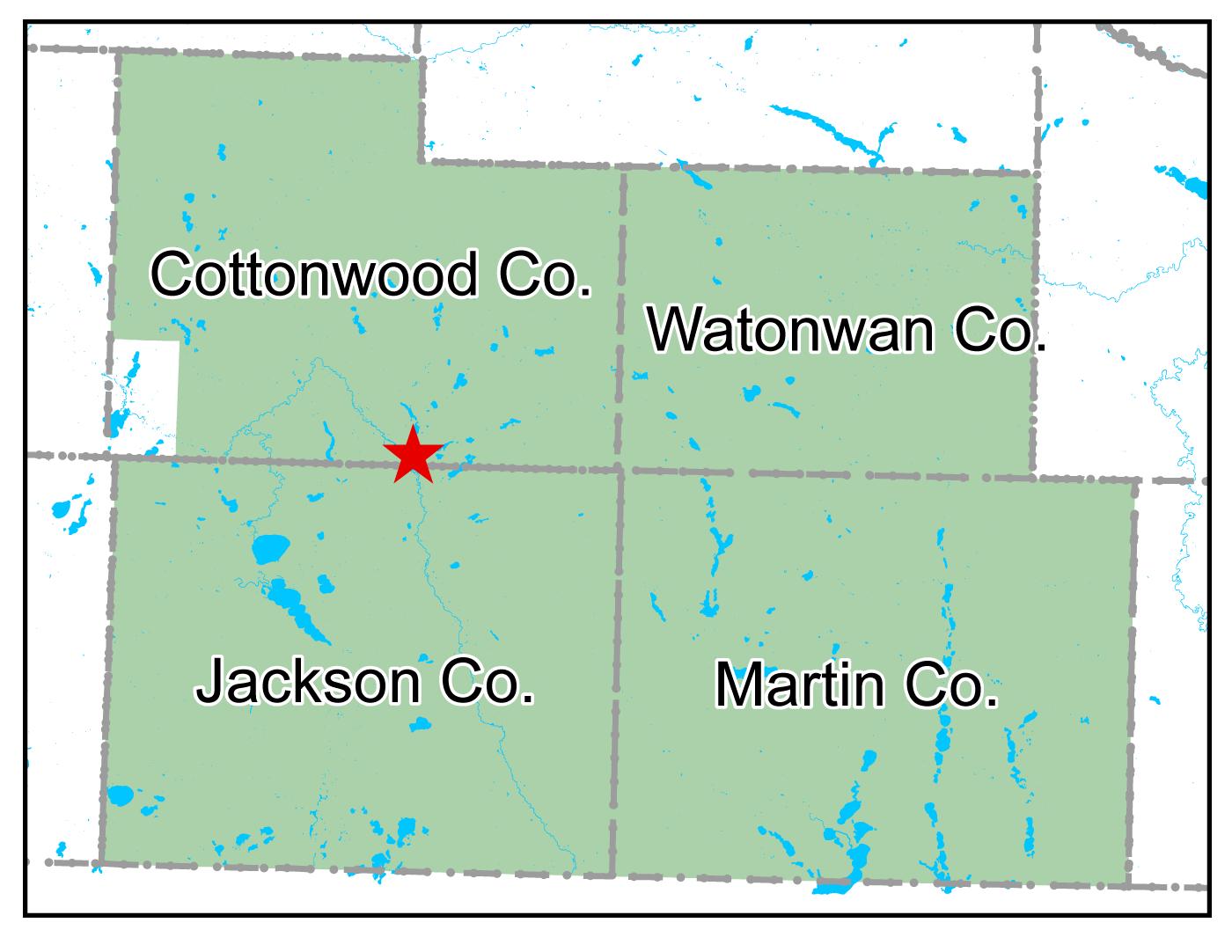 Map of Windom work area