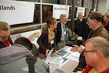 A DNR booth at a public engagement event