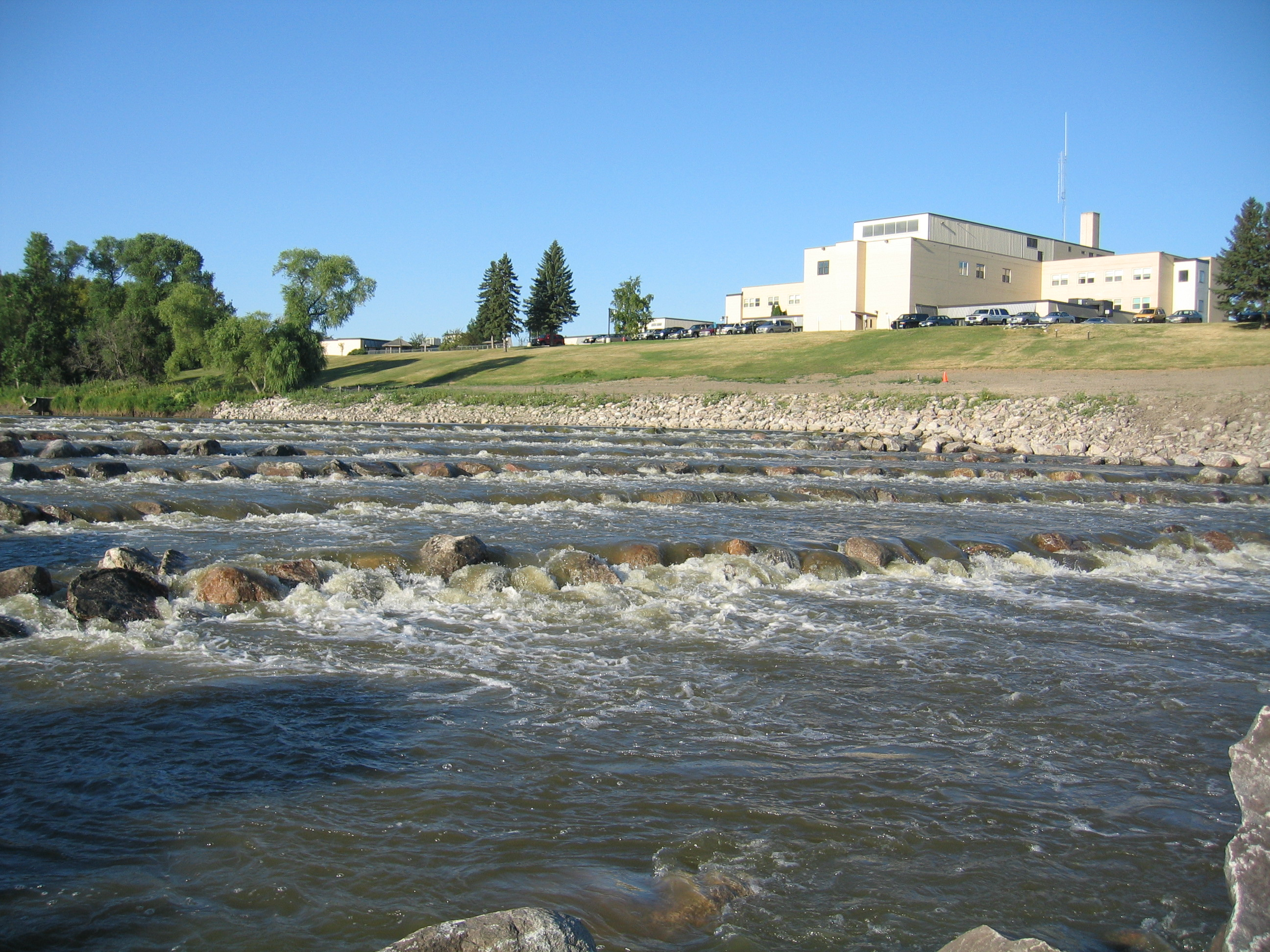 photo: Newly created rapids in East Grand Forks