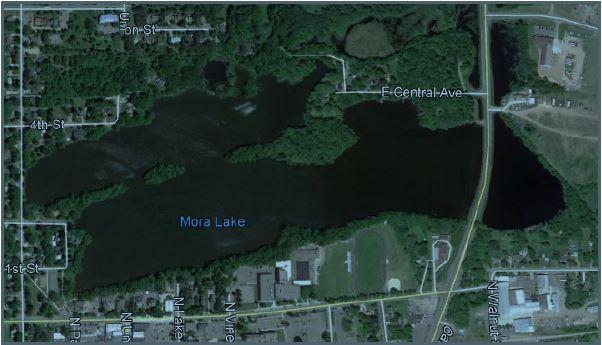 Aerial photo of Mora Lake