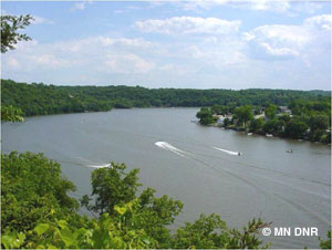 Image of Lake Zumbro located in Minnesota.