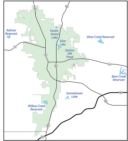 Rochester area map