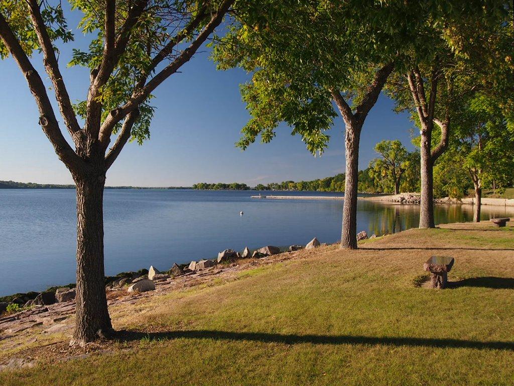 Lakeside Park on Big Stone Lake in Ortonville, Minnesota