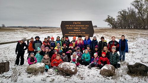 Youth from the Ada school district visited the Faith WMA in Norman County and assisted with a new prairie seeding to learn about prairie restorations and ecosystems.