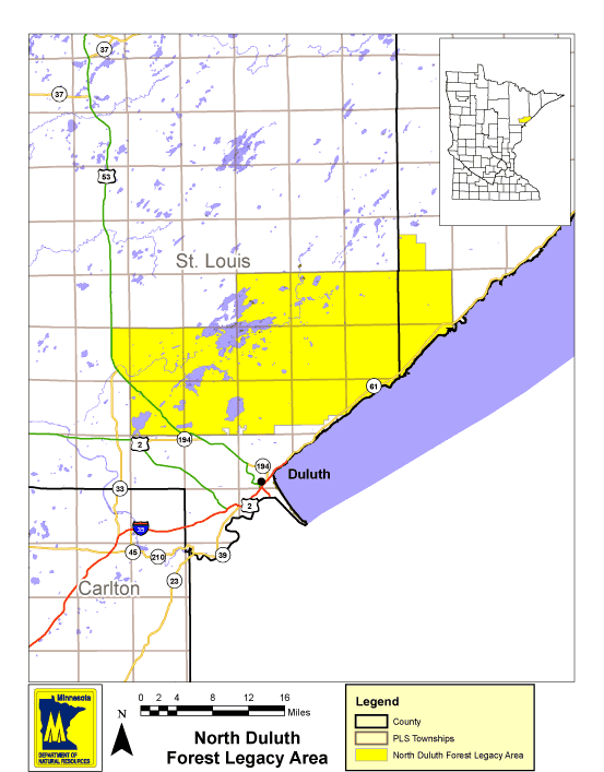 North Duluth Forest Legacy Map