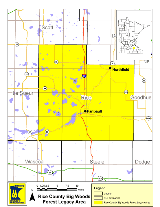 Rice County Big Wood Forest Legacy Map