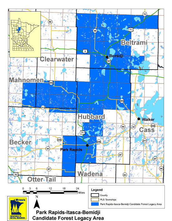 Park Rapids, Itasca and Bemidji Forest Legacy Area